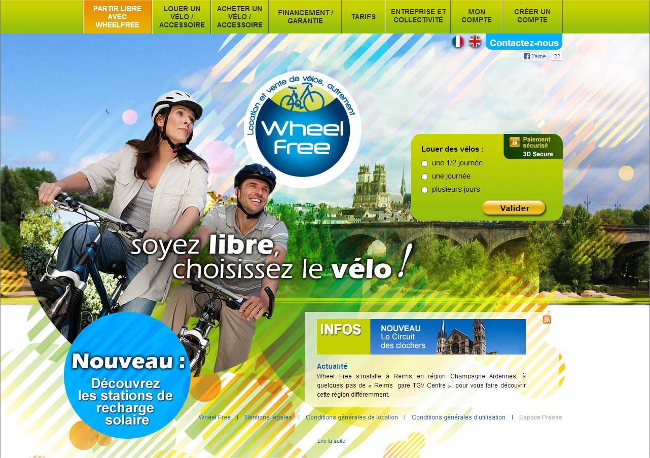 Wheel-Free - location et vente de vélos à assistance électrique